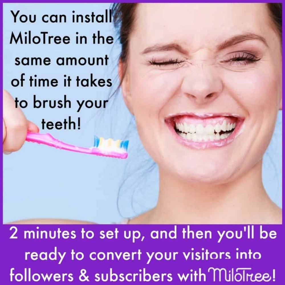 You can install MiloTree and get MORE Instagram Followers in the same amount of time it takes to brush your teeth. Pretty amazing.