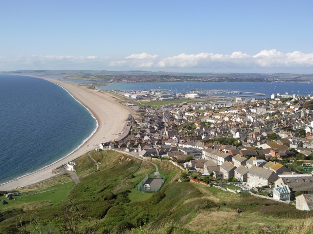 A view of Chiswell and Chesil Beach.