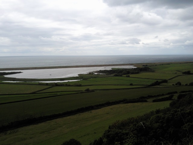 The northern end of the Fleet, where Chesil Beach joins the mainland