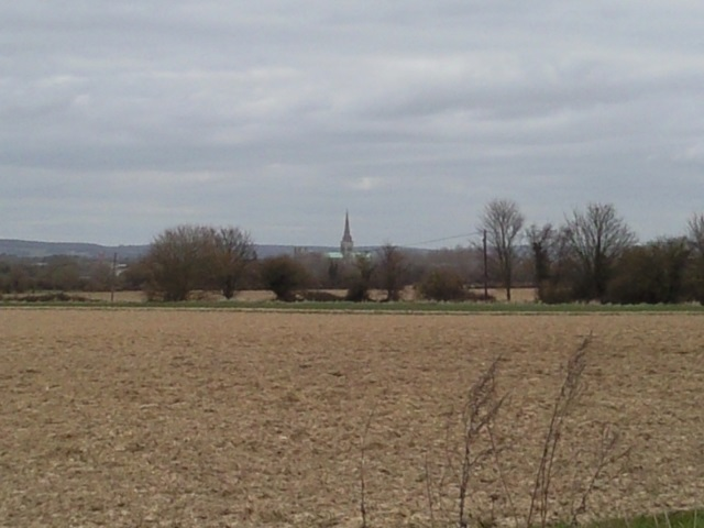 Chichester Cathedral as seen from Apuldram