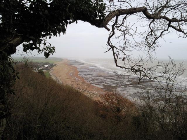 Beach seen from Cliff End