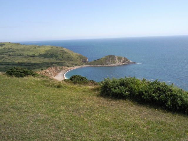 Worbarrow Bay and Worbarrow Tout as seen from the top of Flower's Barrow
