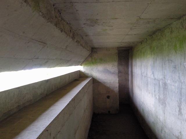 WW2 emplacement interior