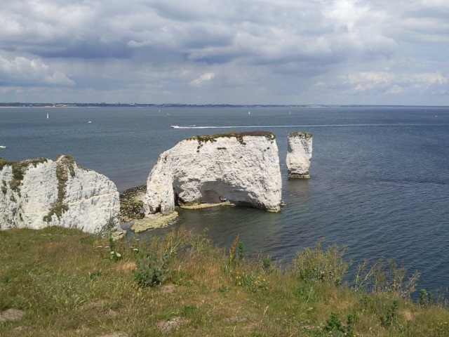 Old Harry Rocks - a series of chalk stacks of Handfast point