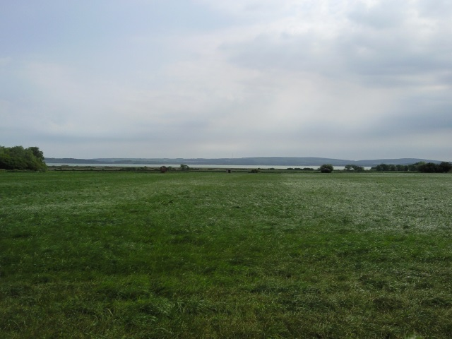 The Isle of Wight seen (distantly) from the New Forest near St Leonards Grange.