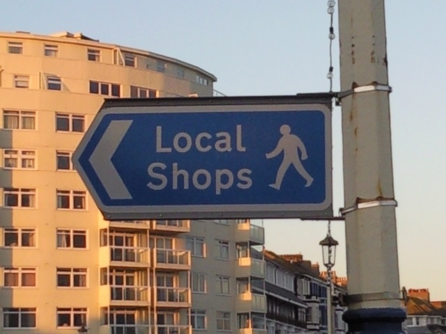 """Sign for """"Local Shops"""""""