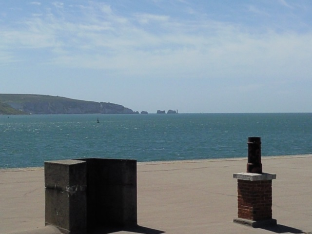 The Needles, as seen from Hurst Castle