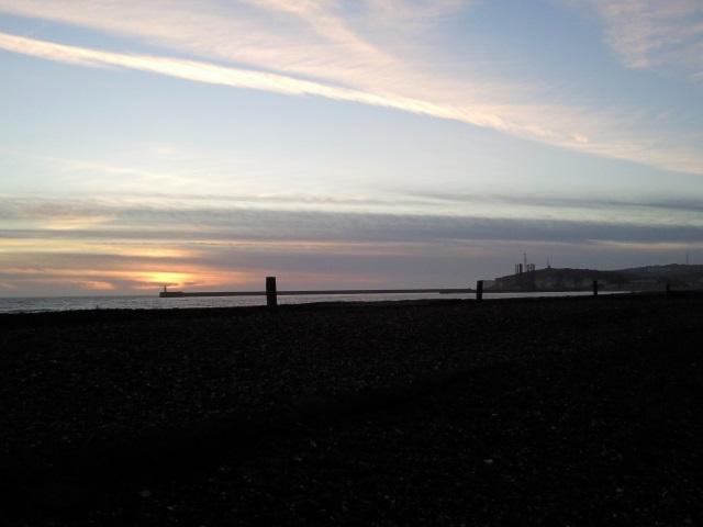 Newhaven Breakwater, as seen from near Tide Mills.