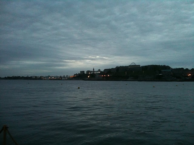 Plymouth Citadel by twilight