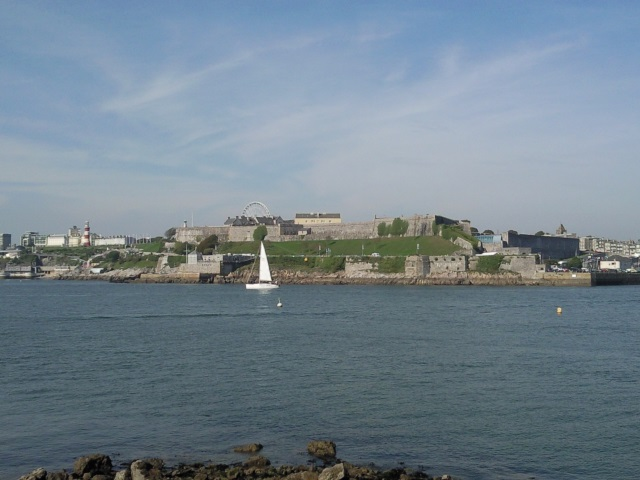Plymouth Citadel seen from Mount batten