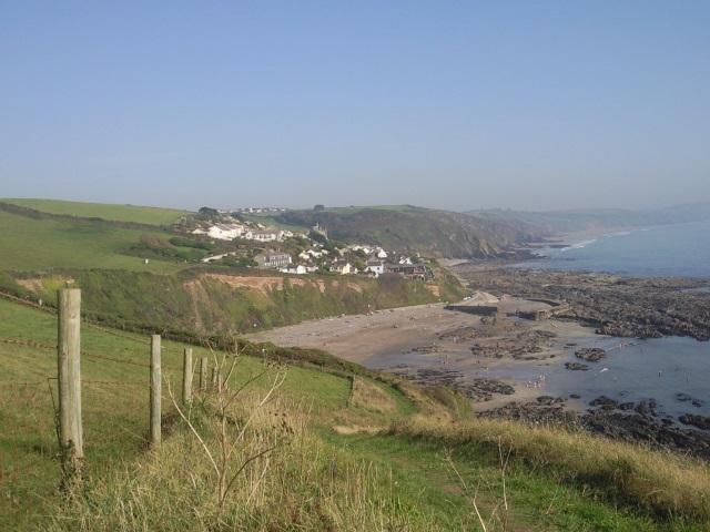 Portwrinkle, as seen from the hillside.