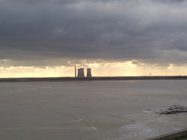 Richborough Power Station, as seen from Little Cliff's End, Ramsgate.