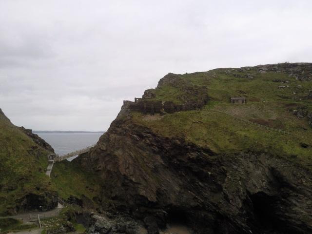 Walkway onto Tintagel Island