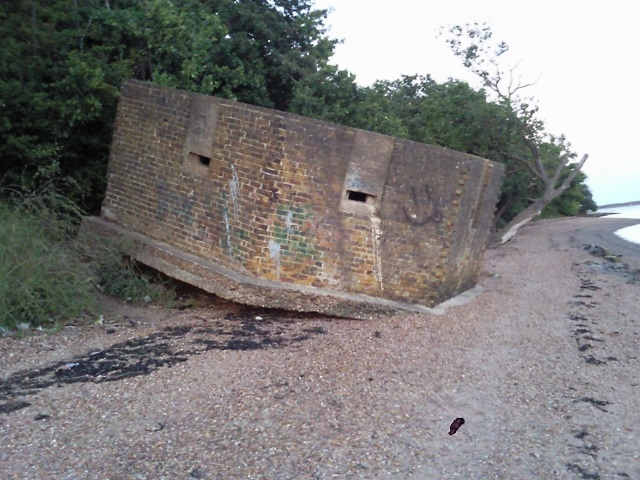 A WW2 pillbox at Upnor