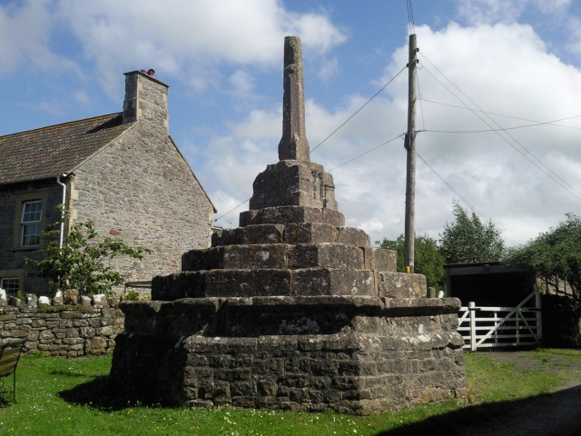 Village Cross, Wick St Lawrence. The actual cross part is missing.