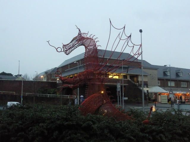 Dragon sculpture made from wire