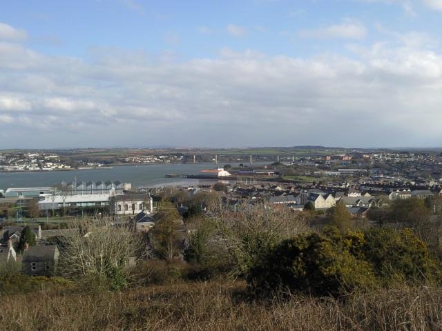 Pembroke Dock and the Cleddau Bridge