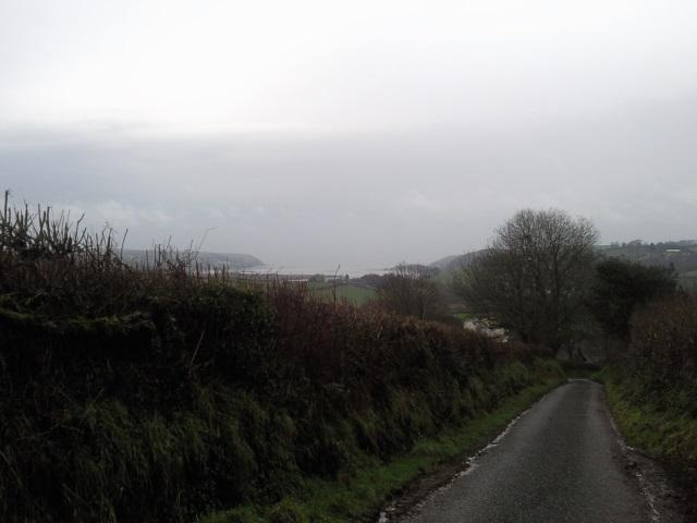 View of the sea, somewhere near Llangain