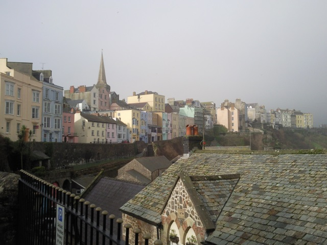 Colourful buildings in Tenby
