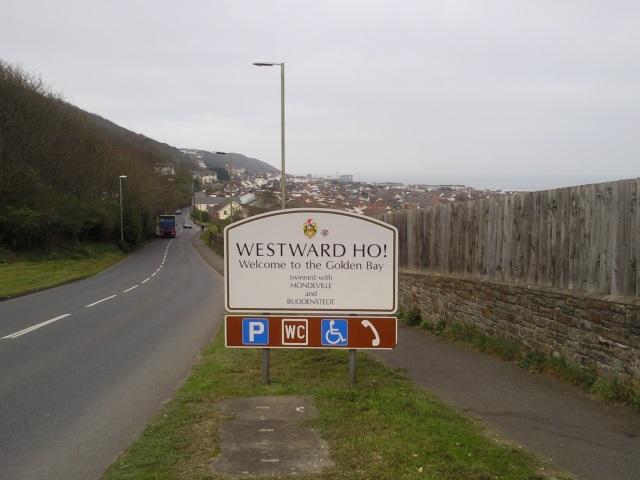 Westward Ho! sign