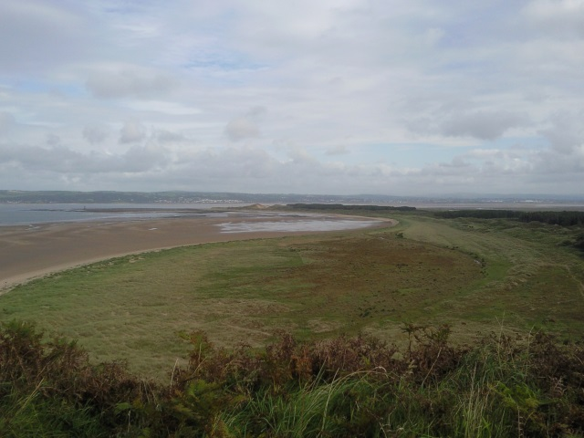 Whiteford Sands, as seen from Hills Tor