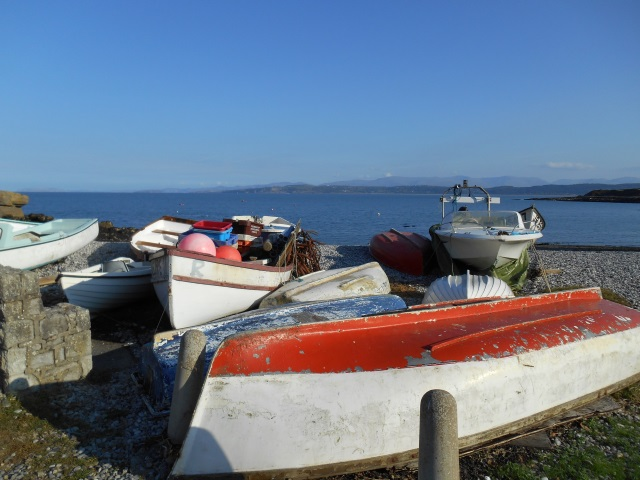 Some boats on Moelfre's beach