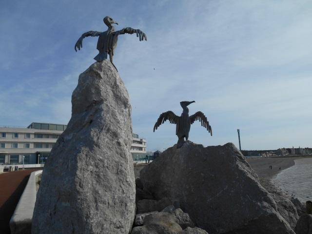 Cormorant scupltures