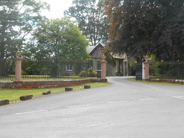 Castletown House driveway entrance and gatehouse