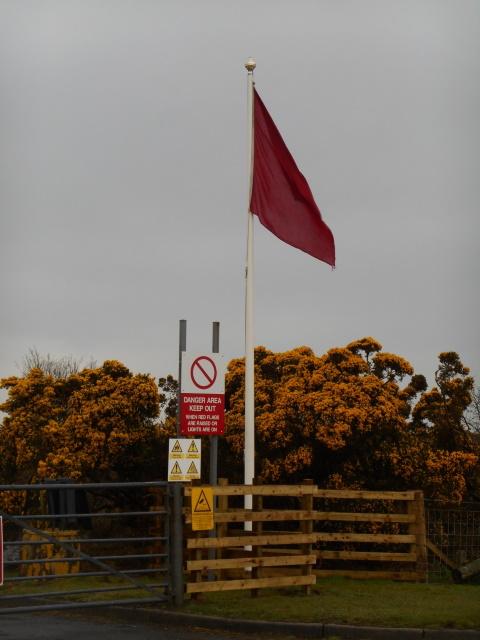 Red flag at MOD bombing range