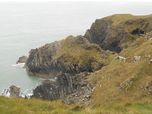 Visible rock strata