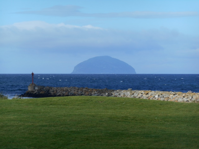 Ailsa Craig from Golf Course Road, Girvan
