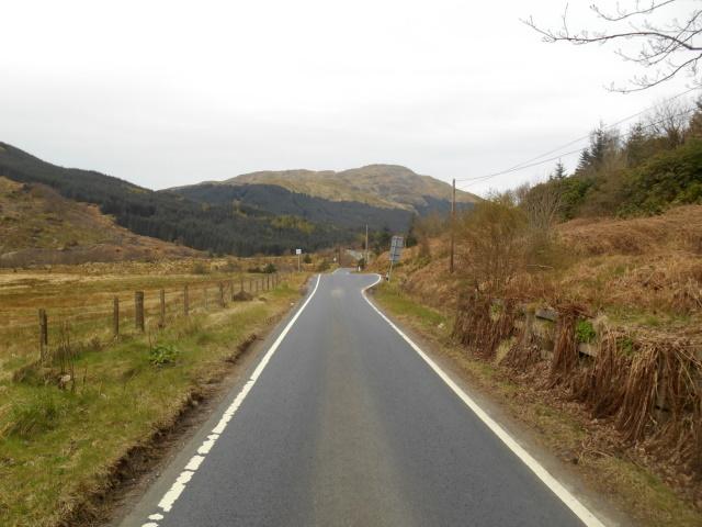 Single-track road in Glen Lean