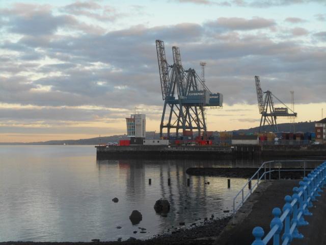 Three cranes at Prince's Pier
