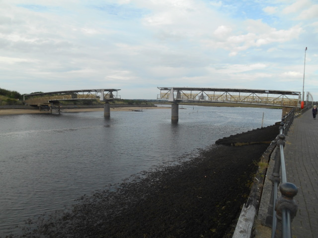 Bridge of Scottish Invention. The middle of the span is open.