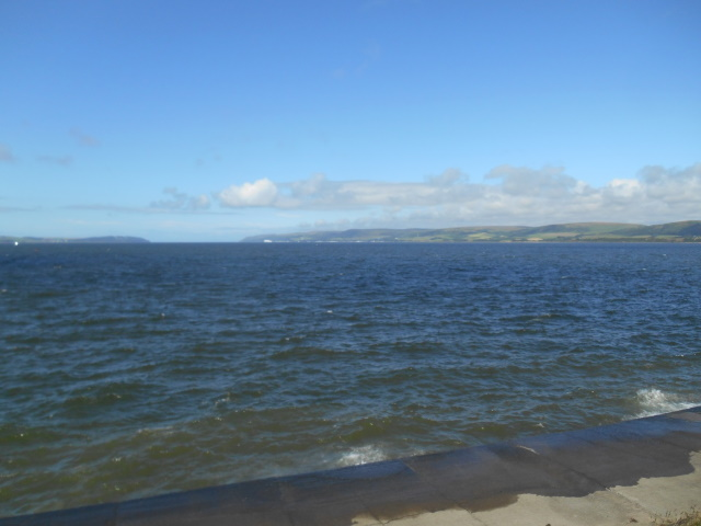 View down Loch Ryan from its head