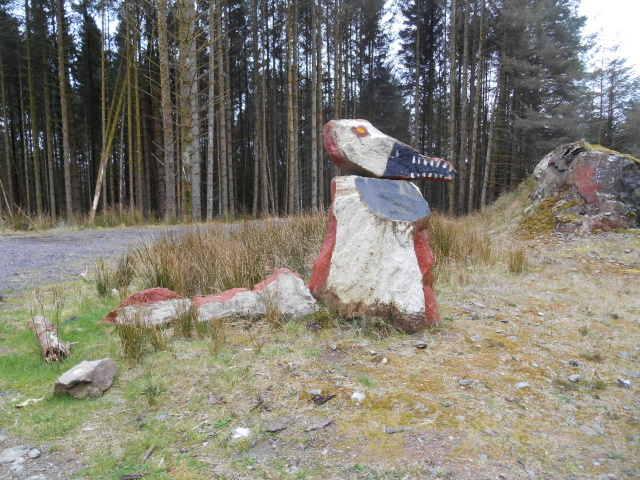 Monster painted onto rocks
