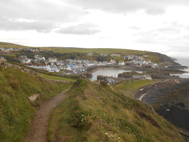 View of Portpatrick from the Southern Upland Way