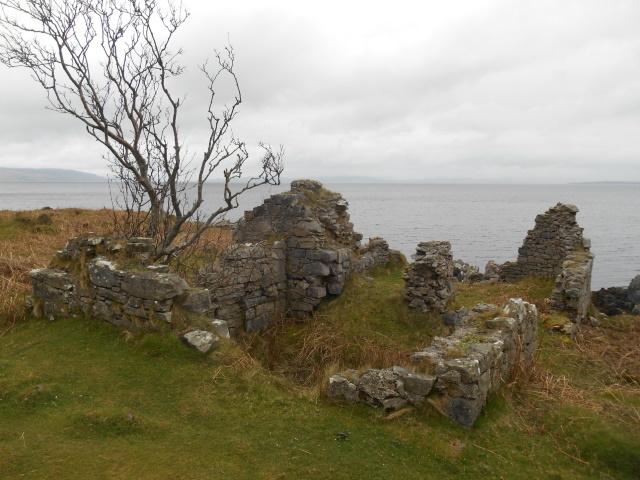 Ruined saltworks building