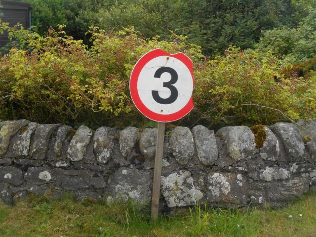 3 mph sign
