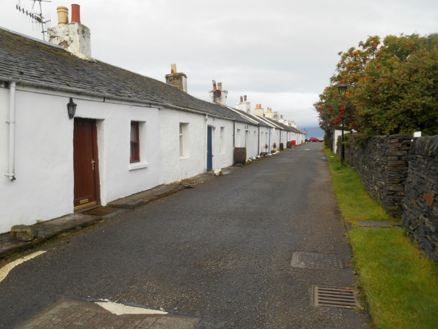 Street of quarry workers' cottages