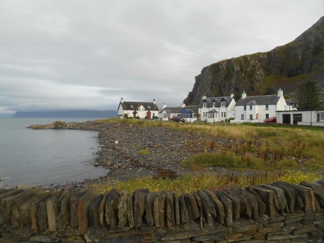 A beach of slate spoil shingle