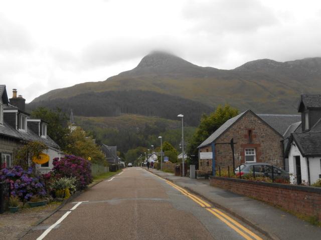 Glencoe's main street, looking towards the Bridge of Coe