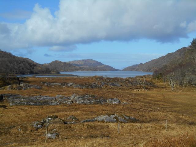 View down Loch Moidart