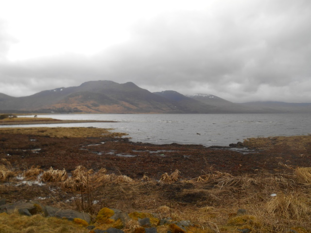 Loch na Keal and the hills to its south