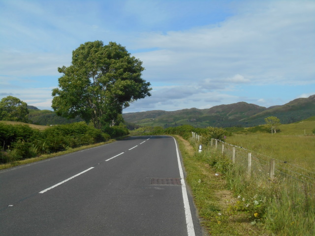 Road approaching Kilmelford