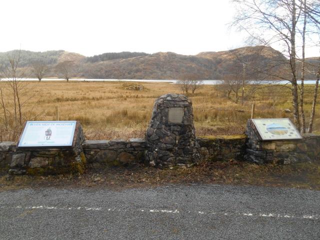 Seven men of Moidart info signs and cairn