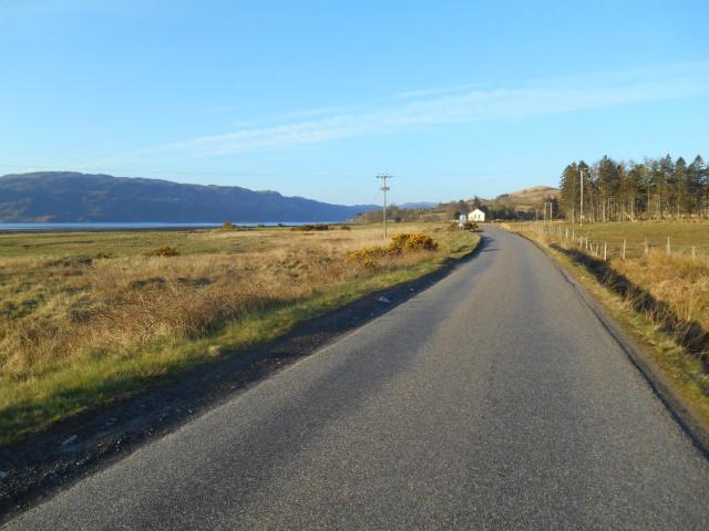 A896 approaching Lochcarron