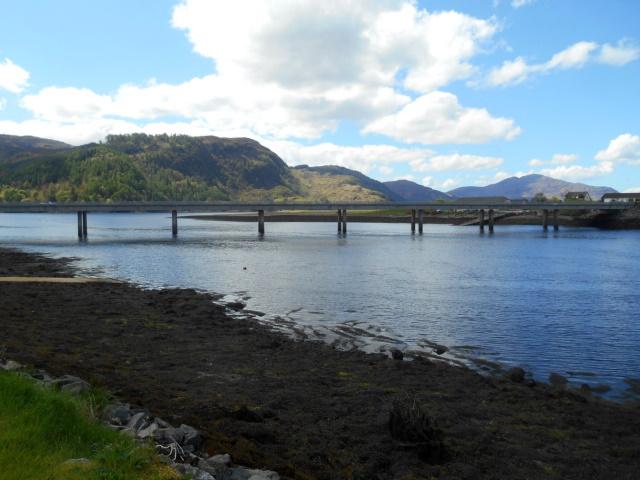 Dornie Bridge and old ferry slipways