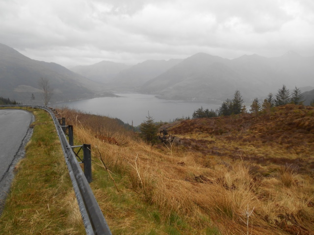 Loch Duich distant and drizzly