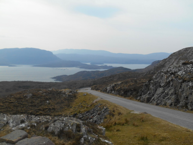 Looking back down to Loch Torridon